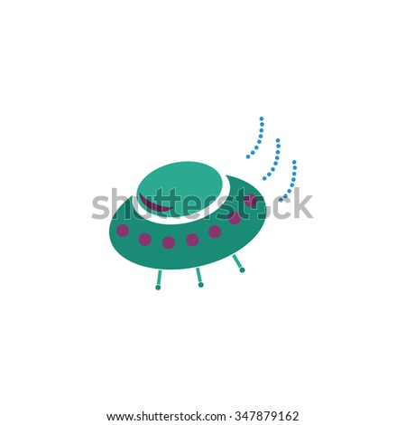 UFO Color vector icon on white background