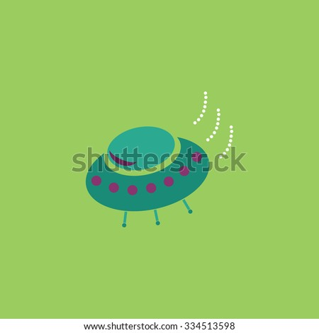 UFO. Colorful vector icon. Simple retro color modern illustration pictogram. Collection concept symbol for infographic project and logo