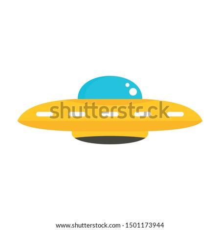 Ufo cosmic ship icon. Flat illustration of ufo cosmic ship vector icon for web design