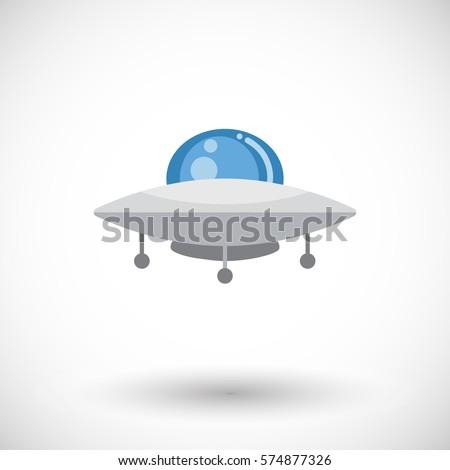 ufo icon flat design of shiny