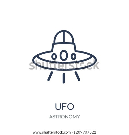 UFO icon. UFO linear symbol design from Astronomy collection.