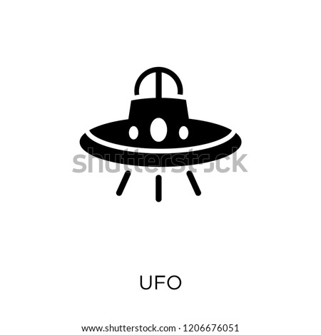 UFO icon. UFO symbol design from Astronomy collection.