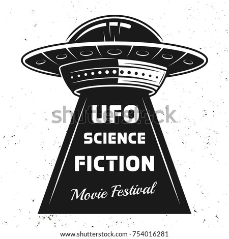 ufo with text science fiction
