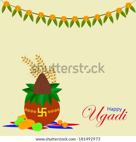 Ugadi and Gudi Padwa The New Year's Day for the people of the Deccan region of India celebrated by Indian people Kannada Telugu Konkani Marathi.Eps 10