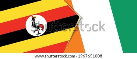 uganda and ivory coast flags