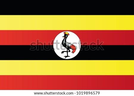 Shutterstock Uganda national flag. Republic of Uganda vector illustration symbol.