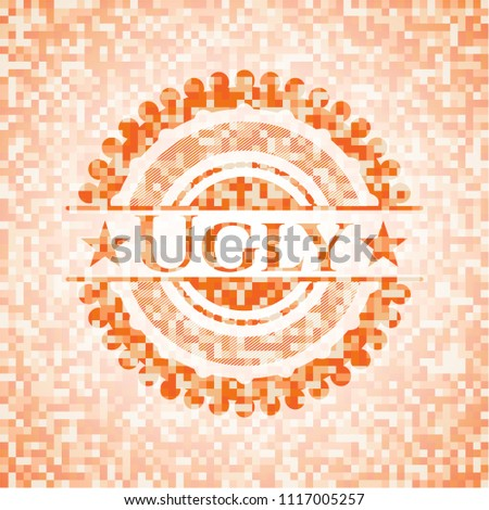 ugly abstract emblem  orange
