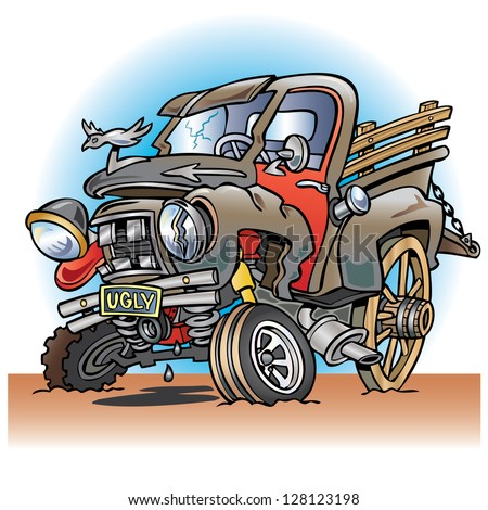 Cartoon Images of Pickup Trucks Down Old Pickup Truck