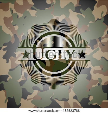 ugly on camo pattern