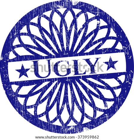 ugly rubber grunge texture stamp