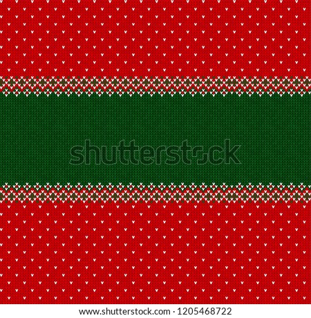 vector illustration ugly sweater merry christmas and happy new year greeting card frame border template