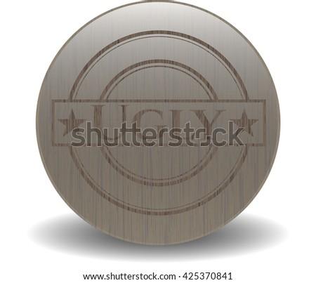ugly wooden emblem vintage