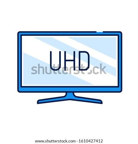 uhd tv display color line icon
