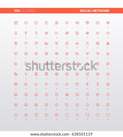 ui icons of social network logo