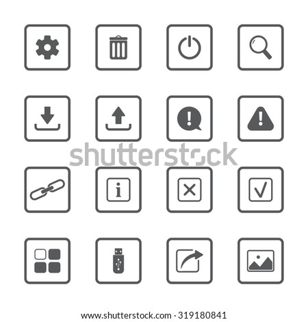 ui vector icons set for web and