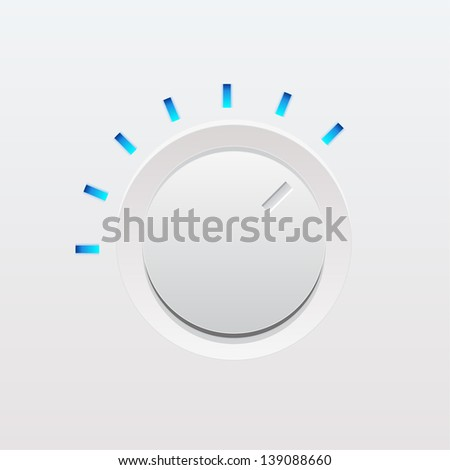 Ui white knob. Vector