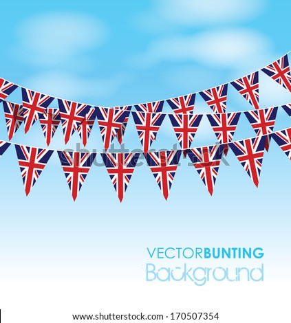 uk bunting on a sky background #170507354