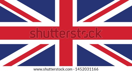 UK Flag illustration,textured background, Symbols of UK - Vector
