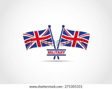 uk flags military emblem