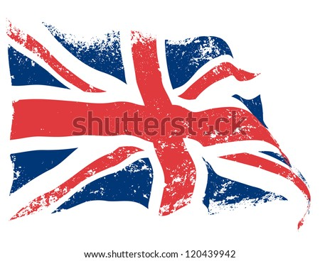 uk or britain flag grunge