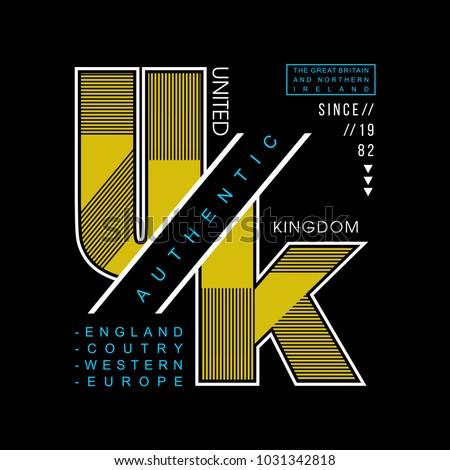 UK united kingdom cool awesome typography tee design vector illustration,element vintage artistic apparel product