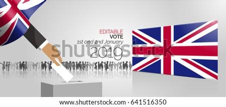 UK Vector voting box