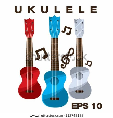 Ukulele vector illustration