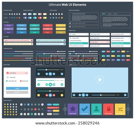 ultimate dark web ui elements