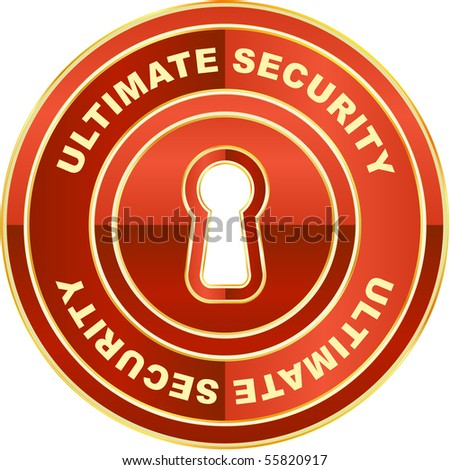 Ultimate security label. Vector illustration.