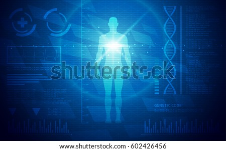 Ultra HD Abstract Sci Fi Human Anatomy Medical Wallpaper Suitable for Application, Desktop, Banner Background, Print Backdrop and Other Print and Digital Work Related