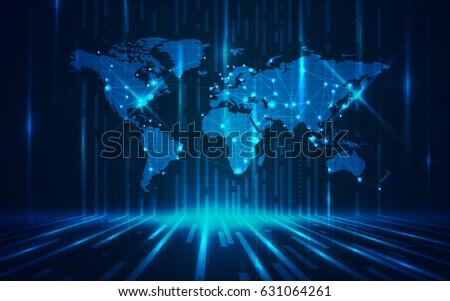 ultra hd abstract world map