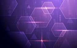 Ultra HD Purple Sci Fi Technology Wallpaper Suitable for Application, Desktop, Banner Background, Print Backdrop and Other Print and Digital Work Related