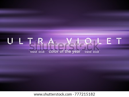 Ultra violet glowing shiny stripes abstract background. Vector design