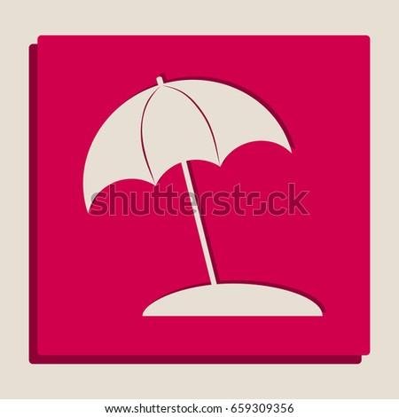 umbrella and sun lounger sign