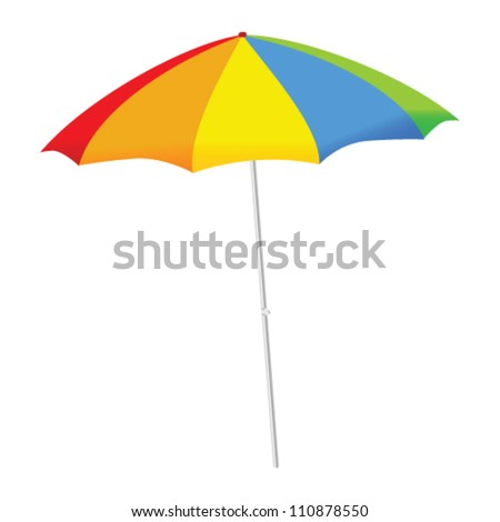 umbrella color vector illustration on a white background
