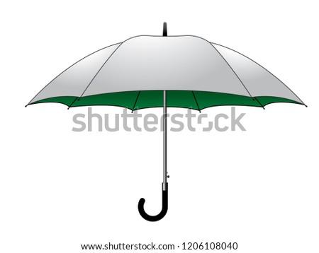 umbrella design vector  white