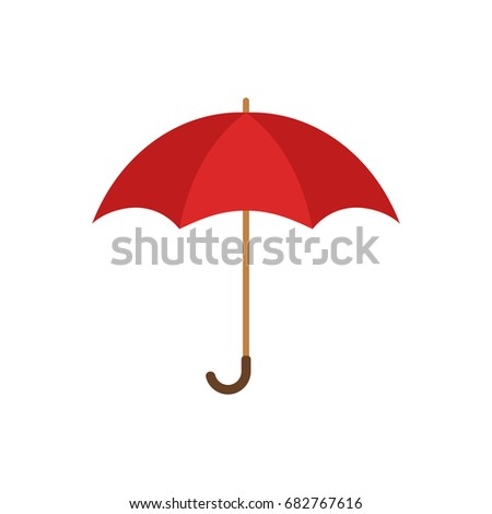 Umbrella, flat design. Vector.