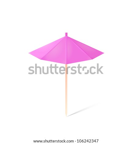 umbrella for drink isolated on white