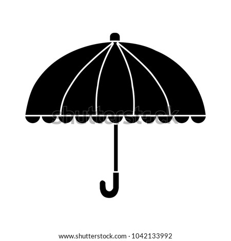 umbrella icon - flat icon - vector rain protection - weather illustration, sign and symbol