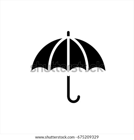 Umbrella icon in trendy flat style isolated on background. Umbrella icon page symbol for your web site design Umbrella icon logo, app, UI. Umbrella icon Vector illustration, EPS10.
