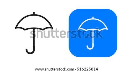 umbrella icon isolated on