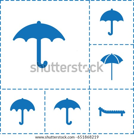 umbrella icon set of 6