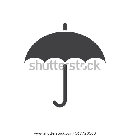 umbrella Icon vector flat design