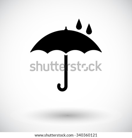 Umbrella icon vector. Flat icon isolated on the white background. Vector illustration.