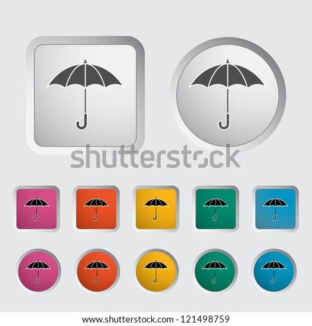 Umbrella icon. Vector illustration.