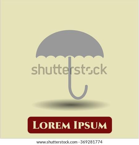 Umbrella icon vector illustration
