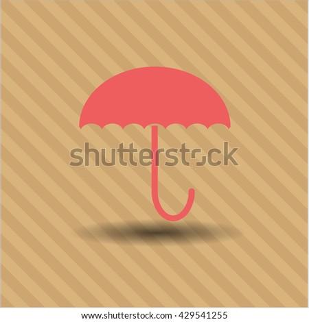 umbrella icon vector symbol flat eps jpg app web concept website