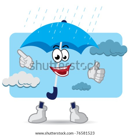 umbrella mascot cartoon