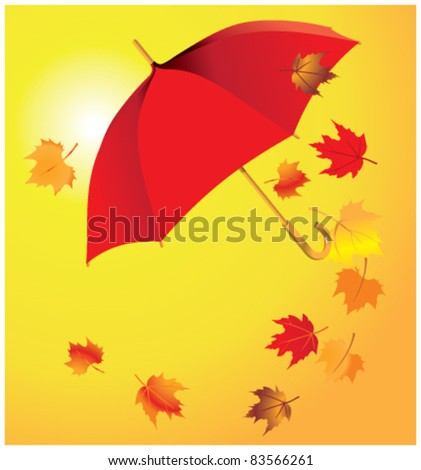 umbrella on a yellow background