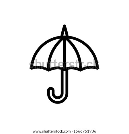 umbrella outline icon. vector illustration. Isolated on white background.